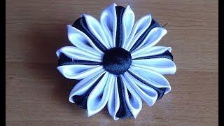 getlinkyoutube.com-Цветы из атласных лент. Канзаши. DIY Kanzashi Flowers