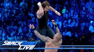 getlinkyoutube.com-Dean Ambrose vs. Randy Orton: SmackDown LIVE, Jan. 17, 2017