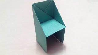 getlinkyoutube.com-How to make an origami chair step by step.