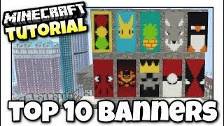 getlinkyoutube.com-Minecraft PS4 -  TOP 10 BANNERS - 100K SPECIAL - Tutorial ( PS3 / XBOX / WII U )