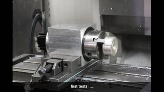 selfmade 4th axis for haas machine , making of slideshow
