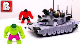 Custom LEGO Tank Fights Hulk In Our LEGO City!!! | M1 Abrams MOC By Andrew Somers | Review