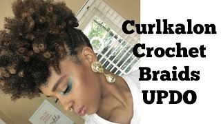 getlinkyoutube.com-Curlkalon Crochet Braids Updo | I Am LilRedz