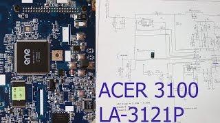 getlinkyoutube.com-Ремонт материнской платы ноутбука ACER ASPIRE 3100 (LA-3121p). Короткое замыкание по +5VALWP.