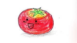 How to draw tomato 토마토 그리기 lovely adorable kawaii 손그림 귀여운 예쁜 그림 그리는 법