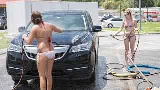 getlinkyoutube.com-Making a splash: Car wash using bikini-clad girls to wax and polish is a hit