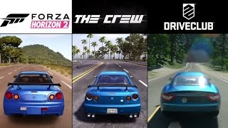 getlinkyoutube.com-The Crew vs. Forza Horizon 2 vs. DriveClub (PS4 & Xbox One) Gameplay Graphics Comparison