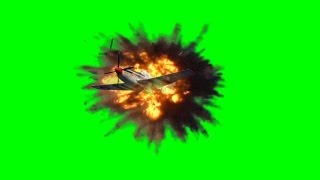 getlinkyoutube.com-Airplane explode in the Air with sound - action movie green screen