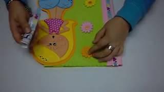 getlinkyoutube.com-DIY Forro Tapa para Cuaderno en Foami, Goma Eva, Microporoso, Easy Crafts