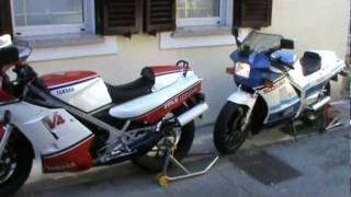 getlinkyoutube.com-Start my Suzuki RG 500 Gamma & RD 500 LC Yamaha