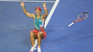getlinkyoutube.com-Match point: The moment Angelique Kerber won the Aus Open | Australian Open 2016
