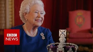 The Queen's advice on wearing a crown - BBC News width=