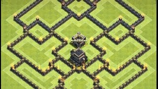getlinkyoutube.com-Th9 hybrid base | Defense base | Diseño de aldea | Clash of clans