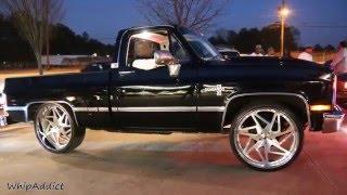 "getlinkyoutube.com-WhipAddict: Chevrolet Silverado Short Bed on brushed 26"" Forgiato Finestros, Stunt Sunday ATL"