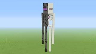getlinkyoutube.com-Minecraft Tutorial: How To Build A ENDERMAN! Anatomy Statue