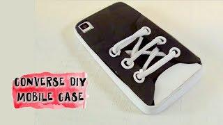 getlinkyoutube.com-Funda para teléfono móvil en forma de zapatilla. Manualidades goma eva. DIY