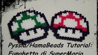 getlinkyoutube.com-Tutorial Hama Beads/ Pyssla: Funghetto di SuperMario! che caos 'sto tutorial! ^_^