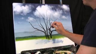 getlinkyoutube.com-Time Lapse Speed Painting Jacaranda Tree by TIm Gagnon oil/acrylic landscape paintings.