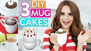 getlinkyoutube.com-3 EASY DIY MUG CAKES!