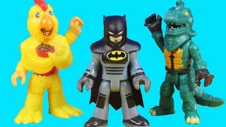 getlinkyoutube.com-Imaginext Blind Bags Series 6 Surprise Toys With Imaginext City Center Police & Batman