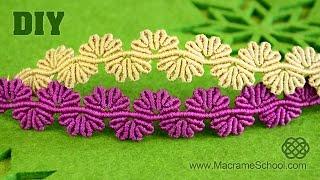 getlinkyoutube.com-Wavy Flower Lace Bracelet - Macrame Tutorial