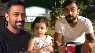 Virat Kohli's CUTE Video With MS Dhoni's Daughter Zeva width=