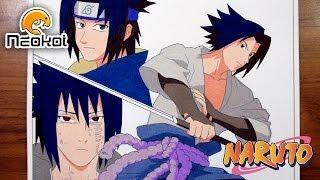 getlinkyoutube.com-Drawing Sasuke Uchiha   Dibujando a Sasuke