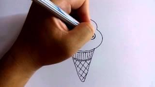 getlinkyoutube.com-วาดการ์ตูนกันเถอะ สอนวาดการ์ตูน ไอศครีมโคน