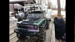 getlinkyoutube.com-A spring like saturday trail run / BBQ . Trucks , trailers , water and mud .