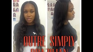 getlinkyoutube.com-OUTRE simply perfect 9 Brazilian hair 3 month update
