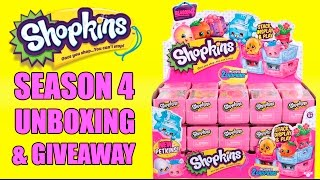 getlinkyoutube.com-Shopkins SEASON 4 GIVEAWAY (CLOSED) & Unboxing Entire Case FREE SHOPKINS!
