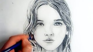 getlinkyoutube.com-How To Draw A Female Face: Step By Step
