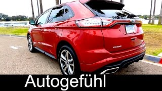 getlinkyoutube.com-2016 Ford Edge Sport Exterior Interior Driving shots & Assistances Systems - Autogefühl