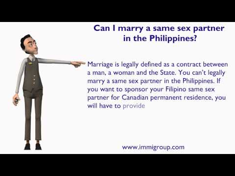 Can I marry a same sex partner in the Philippines?