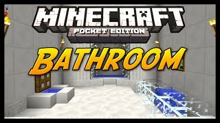 getlinkyoutube.com-Minecraft Pocket Edition Tutorial - How To Build a Bathroom