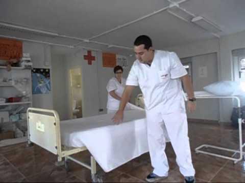 COMO HACER LA CAMA HOSPITALARIA MARCO ANTONIO