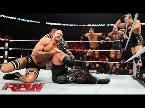 Rey Mysterio, Big Show, Cody Rhodes & Goldust vs. Ryback, Curtis Axel & The Real Americans: Raw, Dec