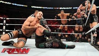 getlinkyoutube.com-Rey Mysterio, Big Show, Cody Rhodes & Goldust vs. Ryback, Curtis Axel & The Real Americans: Raw, Dec