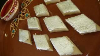 getlinkyoutube.com-Kaju Katli (Cashew Burfi) - Indian Sweet Recipe