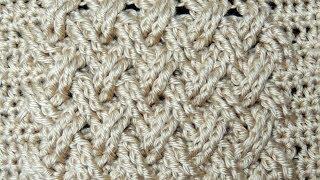 getlinkyoutube.com-Crochet : Punto Entrecruzado Plano