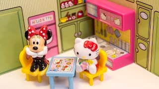 getlinkyoutube.com-Hello Kitty and Mickey Mouse Dollhouse Unboxing Toys Review
