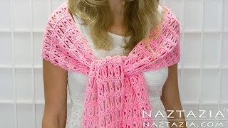 DIY Tutorial - How to Crochet Broomstick Lace Shawl Scarf Wrap - Right Left Hand