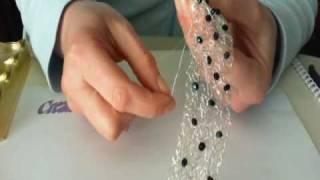 getlinkyoutube.com-tutorial: bracciale e orecchini ad uncineto e cristalli