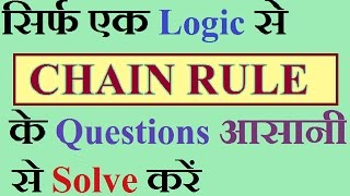 CHAIN RULE short trick with examples for bank exams./ in HINDI