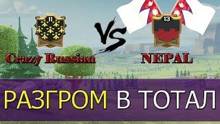 getlinkyoutube.com-Crazy Russian VS NEPAL [Clash of Clans]