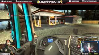 getlinkyoutube.com-Euro truck simulator 2 | Multiplayer convoy | Con la banda OP | vulcano