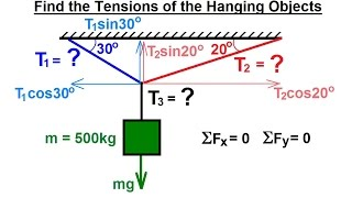 getlinkyoutube.com-Mechanical Engineering: Particle Equilibrium (7 of 19) Tension of Cables Attached to Hanging Object