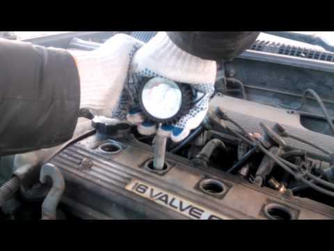 Toyota Carina E измерение компрессии 4AFE
