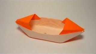 طريقة عمل قارب جميل من الورق عن طريق فكرة طى الورق | فن الاوريجامى