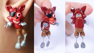 getlinkyoutube.com-FNAF World Adventure Foxy Earring Polymer clay Tutorial | Collaboration with Cristhian Crafts